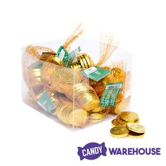 Great for parties and events — Madelaine Gold Foiled Milk Chocolate Coins Chocolate Gold, Chocolate Coins, Wholesale Candy, Gold Candy, Types Of Candy, Mesh Bags, Balloon Weights, Madelaine Petsch, Sweetest Day