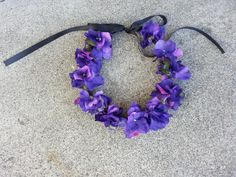 Dark Purple Floral Headband/ Flower Crown. by DevineBlooms on Etsy, $13.00