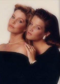 Priscilla and Lisa Marie Presley.