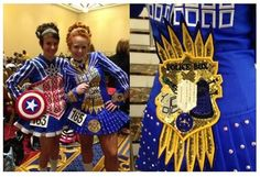 Irish Dancers With Captain America And Doctor Who Dresses [Cosplay]