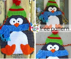 Icicle ike - free crochet penguin hanging by Heidi Yates at Snappy Tots. Crochet Crafts, Yarn Crafts, Crochet Toys, Crochet Projects, Crochet Potholders, Knit Dishcloth, Scarf Crochet, Christmas Crochet Patterns, Holiday Crochet