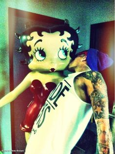 Chris Brown's photo: Making out with my boo!