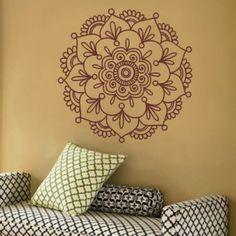 Mandala - like the design Mandala Floral, Mandala Design, Mandala Art, Mandala Doodle, Mandalas Drawing, Doodles Zentangles, Zentangle Patterns, Indian Bedroom, Stencil