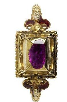 Trinket Treasure Box| Serafini Amelia| Renaissance Sapphire Ring c.1600