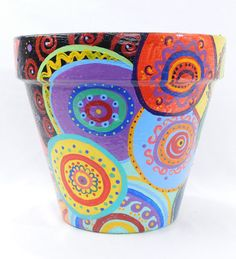 Colorful Polka Dot Mandala Pattern Indoor Outdoor by TheRemedyArt