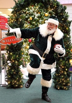 Santa at Waco's Richland Mall last Christmas doing the RG3! // #Baylor Proud!
