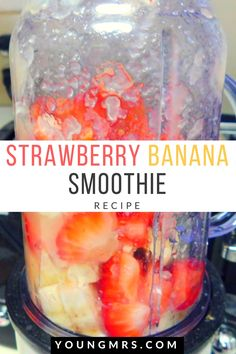 This smoothie recipe is simple, but delicious! Strawberry Banana Smoothies are a staple! They are so simple, yet decadently sweet! Learn how to make one!