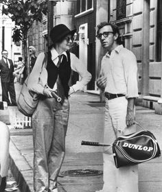 Woody Allen and Diane Keaton in Annie Hall, 1977.