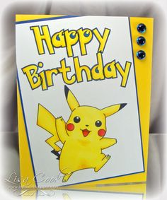 Image Result For Pokemon Birthday Card