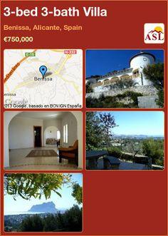 3-bed 3-bath Villa in Benissa, Alicante, Spain ►€750,000 #PropertyForSaleInSpain