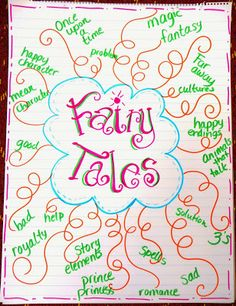 FAIRY TALE ANCHOR CHART~  Great visual for showing the common themes and characters among fairy tales.