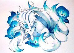 Blue Nine-Tailed Fox