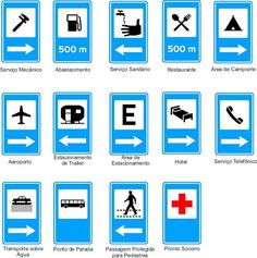 Placas de trânsito e seus significados All Traffic Signs, Driving Signs, Traffic Symbols, Car Care Tips, Animal Crossing Game, Driving School, Wayfinding Signage, School Lessons, English Vocabulary