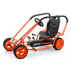 Thunder II (Orange) Go Kart by Hauck Toys now at Toys and Stuff