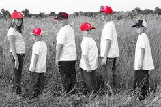 Cousins Shot with Cardinals' Hats