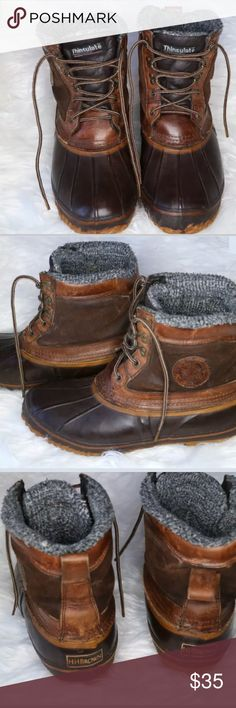 H.H. Brown Insulated Waterproof Leather Boots H.H. Brown Insulated Waterproof Duck Feet Leather Boots - Winter - Mens 9 •Boots have wear as they are pre-owned •Has the duck feet logo on the side of each boot •The insole shows some wearing •I did wash them to the best of my abilities •Bottoms show wear H.H. Brown Shoes Boots