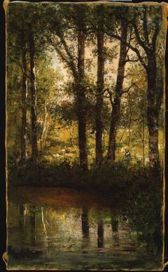 Reflections in the Water William Morris Hunt - circa 1877