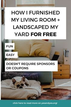 Looking for free decorating ideas? Want to decorate on a budget? I bet FREE furniture would help! Keep reading for the surprising trick I used to decorate my adorable living room for free! #budgeting #moneytips #budgetdecor #FIRE #cheapdecor #personalfinance