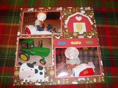 Farm page made using Create-a-Critter cart. by Cricut , embossing done using the Cuttlebug