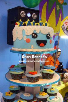 Kawaii Birthday Cake and Cupcake Tower