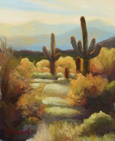 Original Oil Painting-Desert Warmth-10x8 by AldawoodFineArt