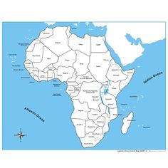 Labeled Africa Control Map - PP Plastic | KidAdvance.com
