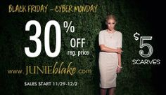 Today is Cyber Monday! Last day to get 30% off of regular priced items and $5 scarves!!!