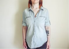 A Denim/Chambray Shirt #style #fashion #outfit #ootd #fashionblog #fblogger #fblog #fashionblogger #outfitidea #chambrayshirt #chambray #denim