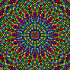 Pixel circus Illusion Gif, Trippy Gif, Psy Art, Hippie Art, Psychedelic Art, Fractal Art, Optical Illusions, Sacred Geometry, Rainbow Colors