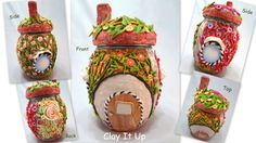 Hey, I found this really awesome Etsy listing at https://www.etsy.com/listing/173620277/delightful-polymer-clay-fairy-house