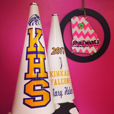 KHS Megaphones, Kinkaid Falcons, Cheerleading, Megaphone Maven, Purple and Gold
