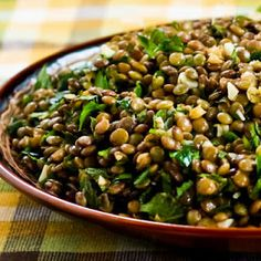 Lebanese Lentil Salad with Garlic, Cumin, Mint, and Parsley Recipe