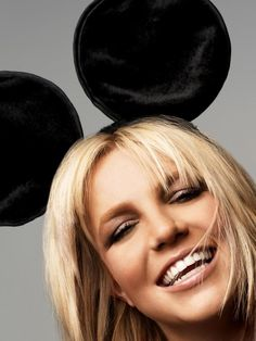 "Britney Spears    Imagery: Mickey Mouse ears = mind control. Britney is the Queen of mind control. Poor girl has tried to break away from her handlers so many times and is the reason she is COURT ORDERED to not have any say in her life. Her dad and fiancé (handlers) control her completely. She is noticeably skittish and seems out of it/drugged all the time to keep her in line and making money for ""them""."
