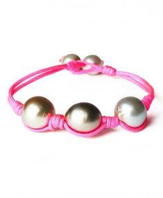 pearl. love. Pink Chunky Pearl Bracelet $180