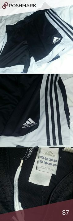 Adidas sports shorts size small Good condition! Three stripe design Slight discoloration on the white, features a drawstring waist and looks good on either gender. No major damages, comes from a smoke free home! adidas Shorts