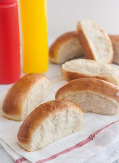 Homemade Hot Dog Buns by Tracey's Culinary Adventures