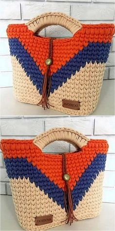 trending design of crochet bag Tricot et Crochet Simple Yet Attractive Crochet For Various Projects Bag Crochet, Crochet Handbags, Crochet Purses, Cute Crochet, Crochet Shawl, Crochet Clothes, Crochet Stitches, Crochet Baby, Crochet Men