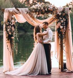 Gorgeous rustic charm wedding arch. #weddings