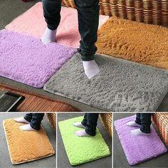 #NewChic - #NewChic 40x60cm Pleuche Non-slip Bedroom Rug Absorbent Dustproof Plush Bath Mat - AdoreWe.com