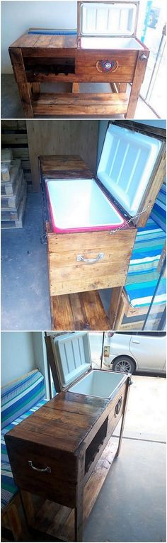 Last we will be bringing up the taste of the cooler stand for you whose creative designing has been all adjusted with the wood pallet material. It is durable and for sure it will be necessary requirement of all the homes right away in the summer season. Get ready to hold it in your hands!