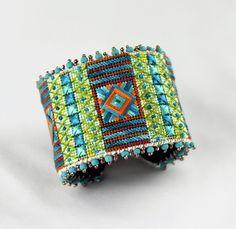 Needlepoint Cuff Bracelet