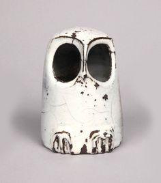 Michel & Nicole Anasse; Glazed Ceramic Owl, 1970s.