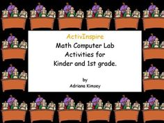 Don't know what to plan for computer lab time? Or don't have anything saved for the substitute teacher? Here you will find 30 pages of ActivInspire Math activities. Simple, easy, but efficient for your students to work independently. It covers the 1st and 2nd quarters of the most standards of learning in the U.S.