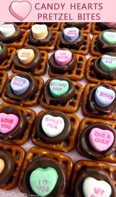 Candy Heart Pretzel Bites