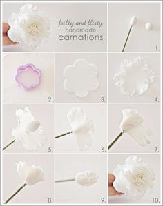 48 New ideas cupcakes fondant flores gum paste Sugar Paste Flowers, Icing Flowers, Fondant Flowers, Clay Flowers, Fondant Rose, Fondant Baby, Art Flowers, Edible Flowers, Fondant Flower Tutorial