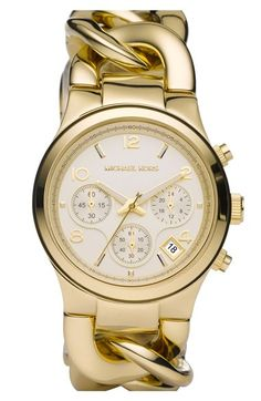 MICHAEL Michael Kors Michael Kors Chain Bracelet Chronograph Watch, 38mm available at #Nordstrom <3 <3 <3