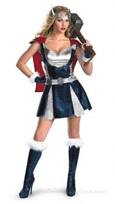Sassy Thor Superhero Kostume til kvinder