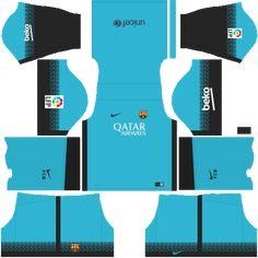 kit-barcelona-dls16-uniforme-alternativo Barcelona Football Kit, Barcelona Fc, Barcelona Soccer, Soccer Kits, Football Kits, Soccer League, Gabriel, Ph, Football Jerseys