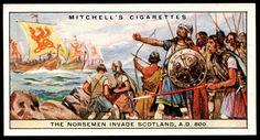 Cigarette Card - Norsemen Invade Scotland