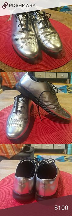 Cole Haan 2.Zerogrand silver oxfords Cole Haan 2.Zerogrand silver Oxford. Size 9C. Cole Haan Shoes Flats & Loafers